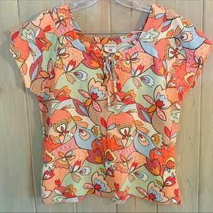 Columbia Floral Short sleeve blouse